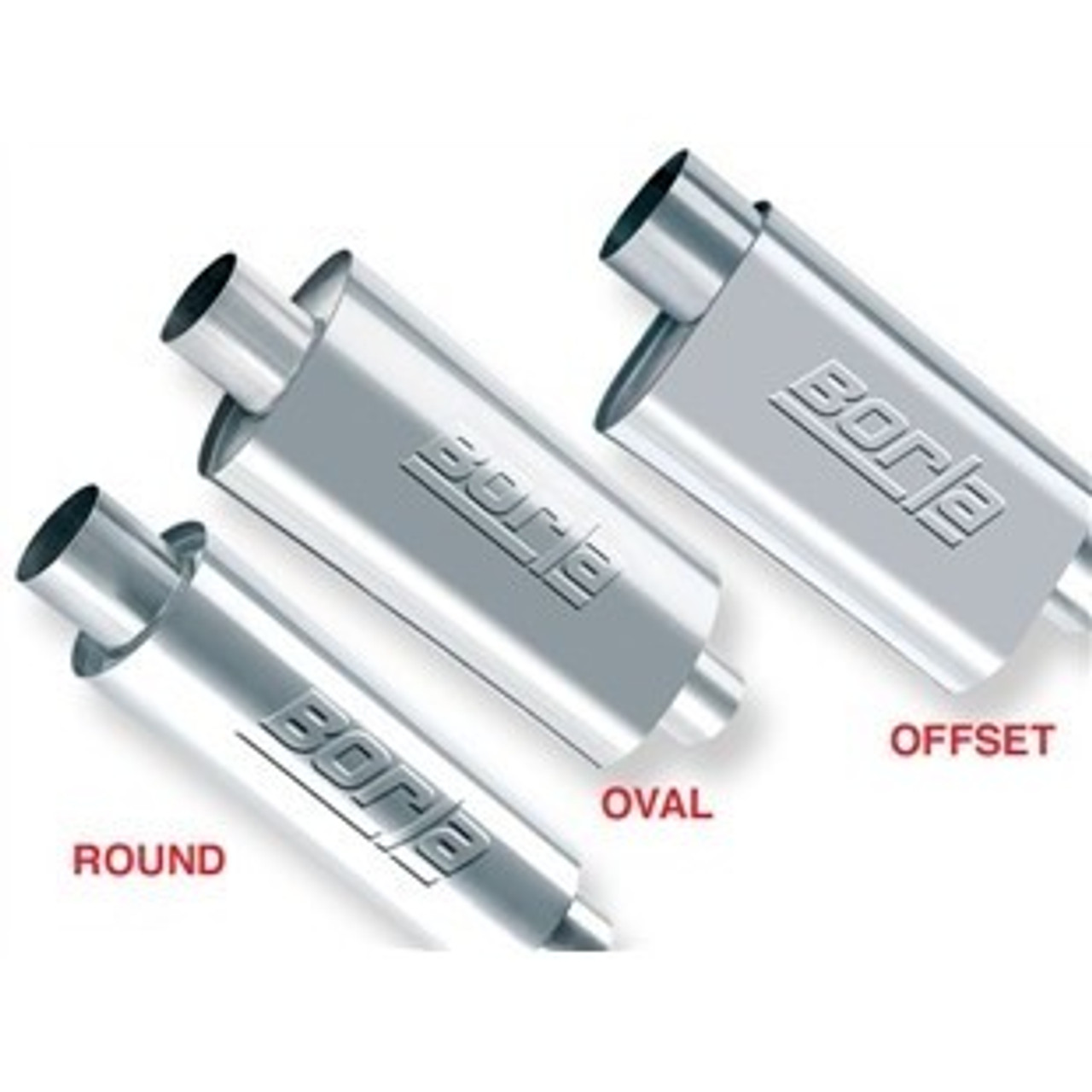 borla xr 1 racing sportsman 2 1 2 inch outlet 2 1 2 inch inlet 12in case oval muffler pn 40941