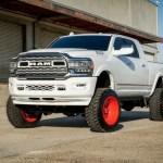 Dodge Ram 3500 4wd 2019 2020 8 Mcgaughys Lift Kit 4wd Only Radius Arm Kit 6 Rear Block Kit Silver Powder Switch Suspension