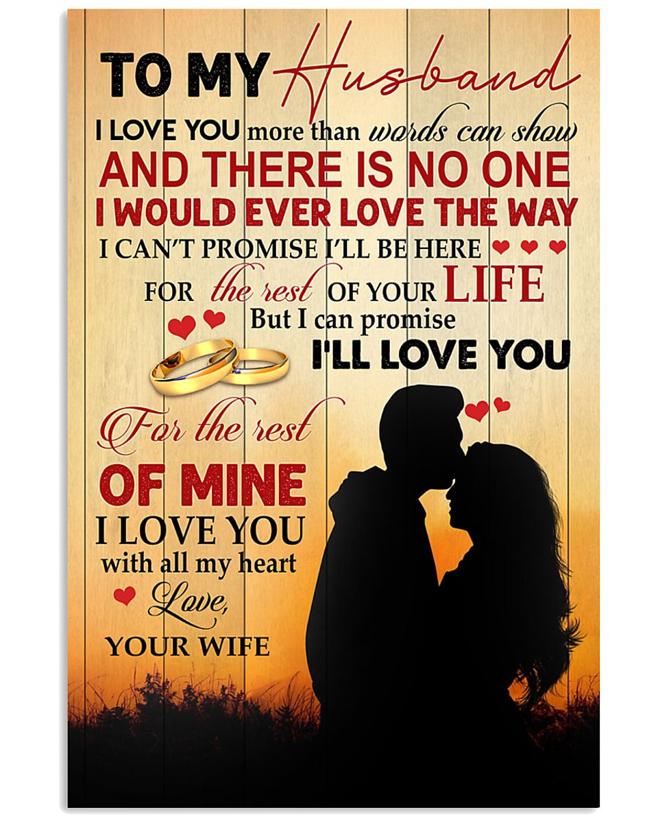 customized to my husband i love you more than words can show print poster wall art home decor