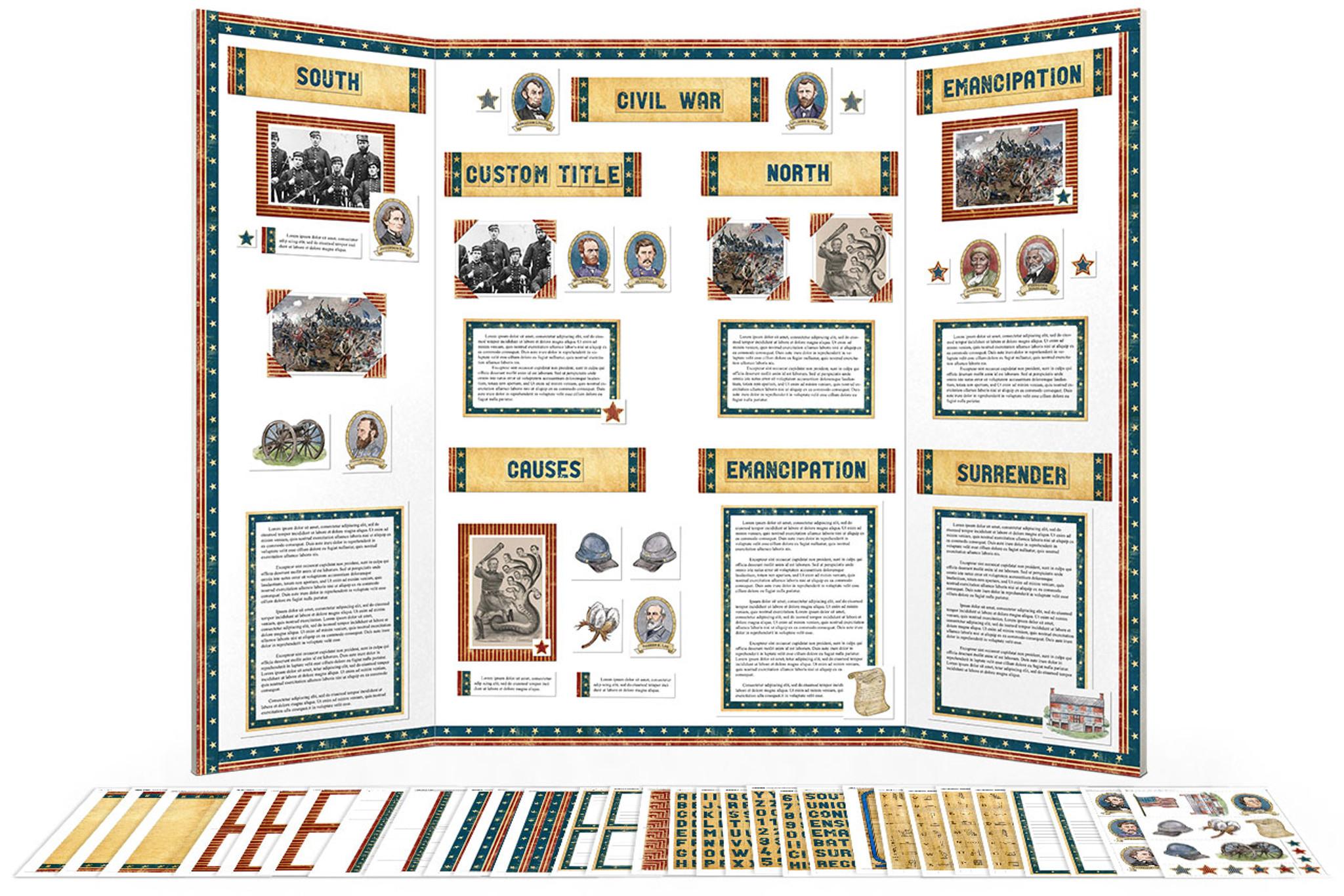 American Civil War Project Display Board Poster Kit (Printable) - School  Project Printables [ 1366 x 2048 Pixel ]