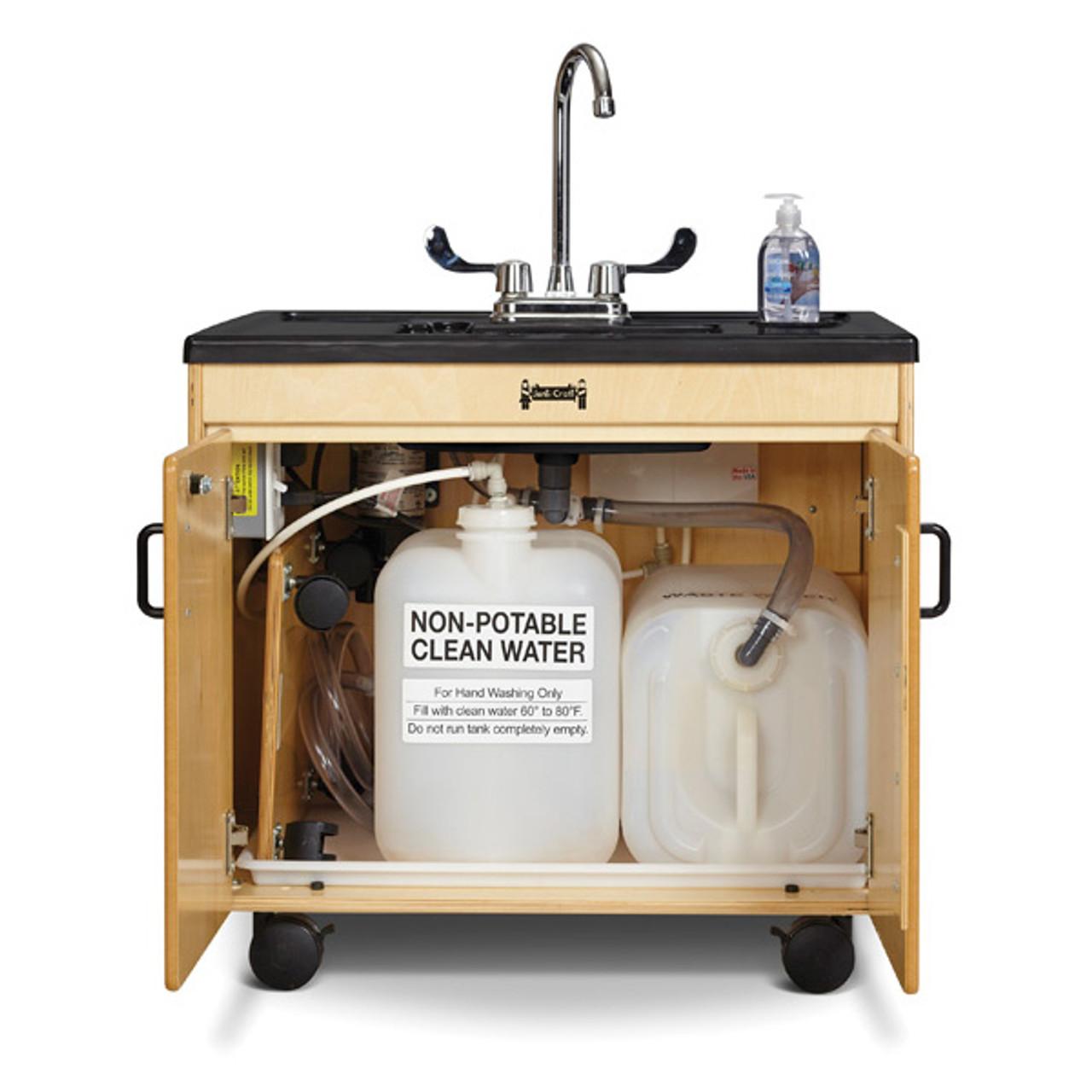 jonti craft clean hands helper portable sink 26 counter stainless steel sink 1371jc