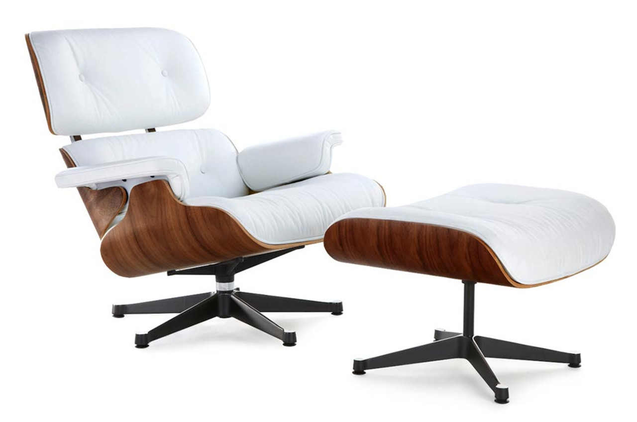 eames chair replica pvc lounge chairs white with a black base manhattan home classic ottoman