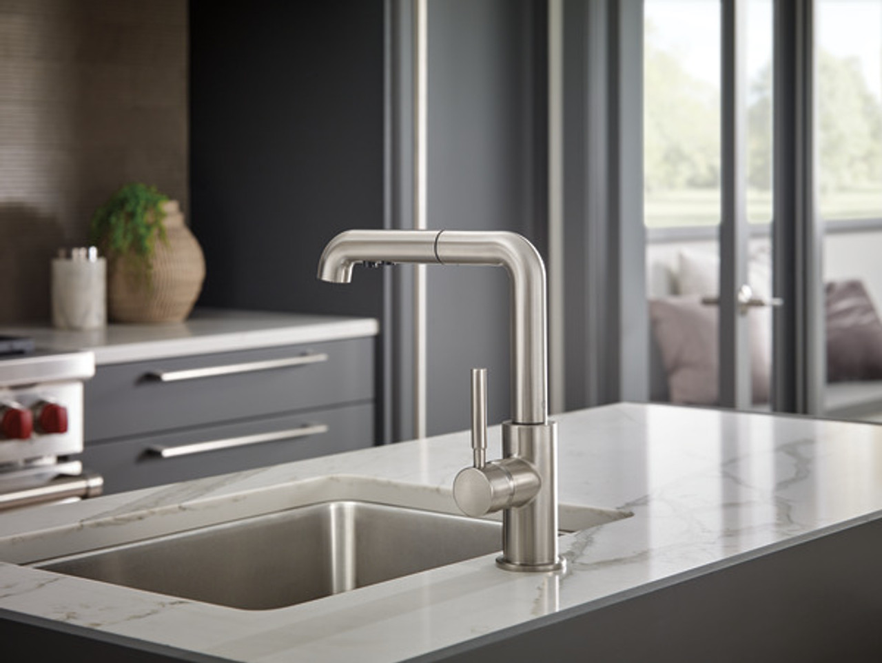 brizo solna pull out kitchen faucet