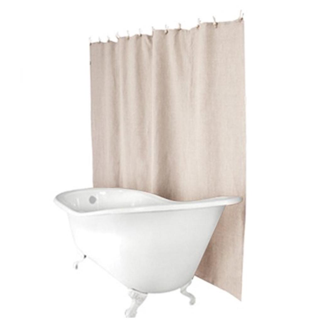 Hemp Shower Curtain Sand