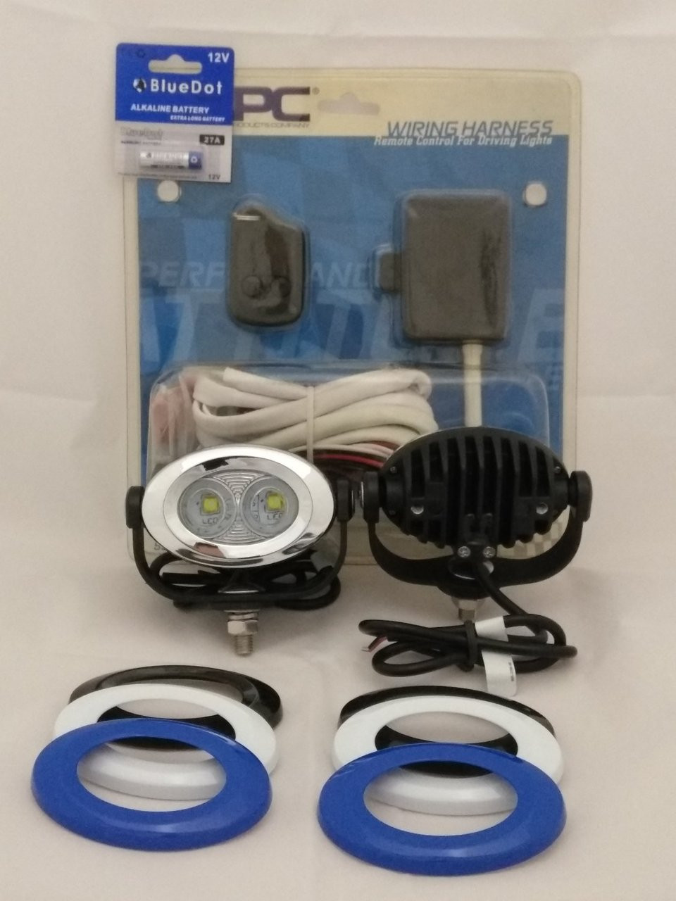 hight resolution of indian scout 6000k led auxiliary lights kit with custom lamp halo bezels