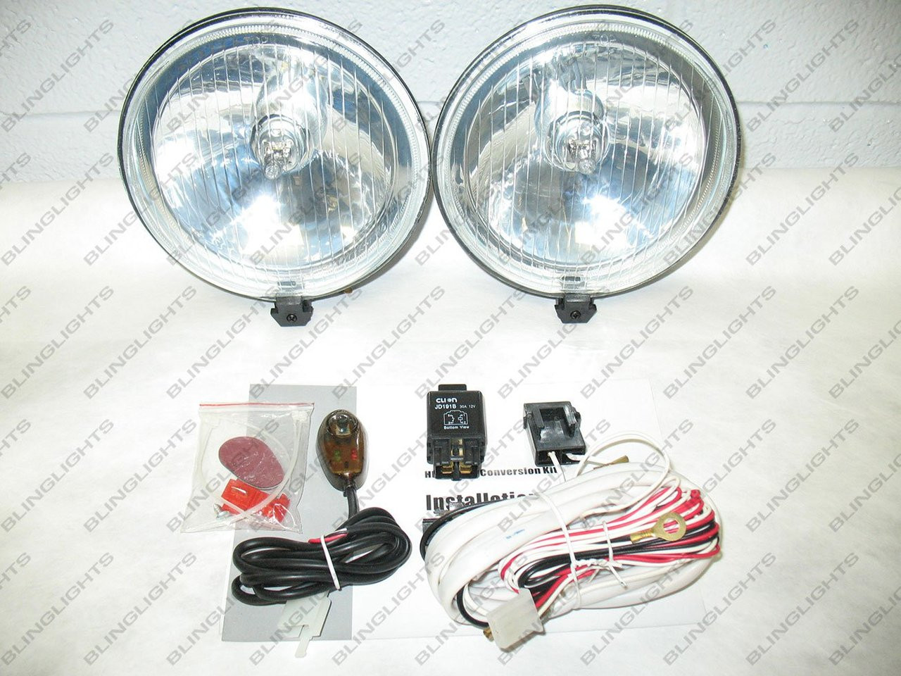 small resolution of 2003 2009 hummer h2 bumper xenon fog lamps driving lights kit