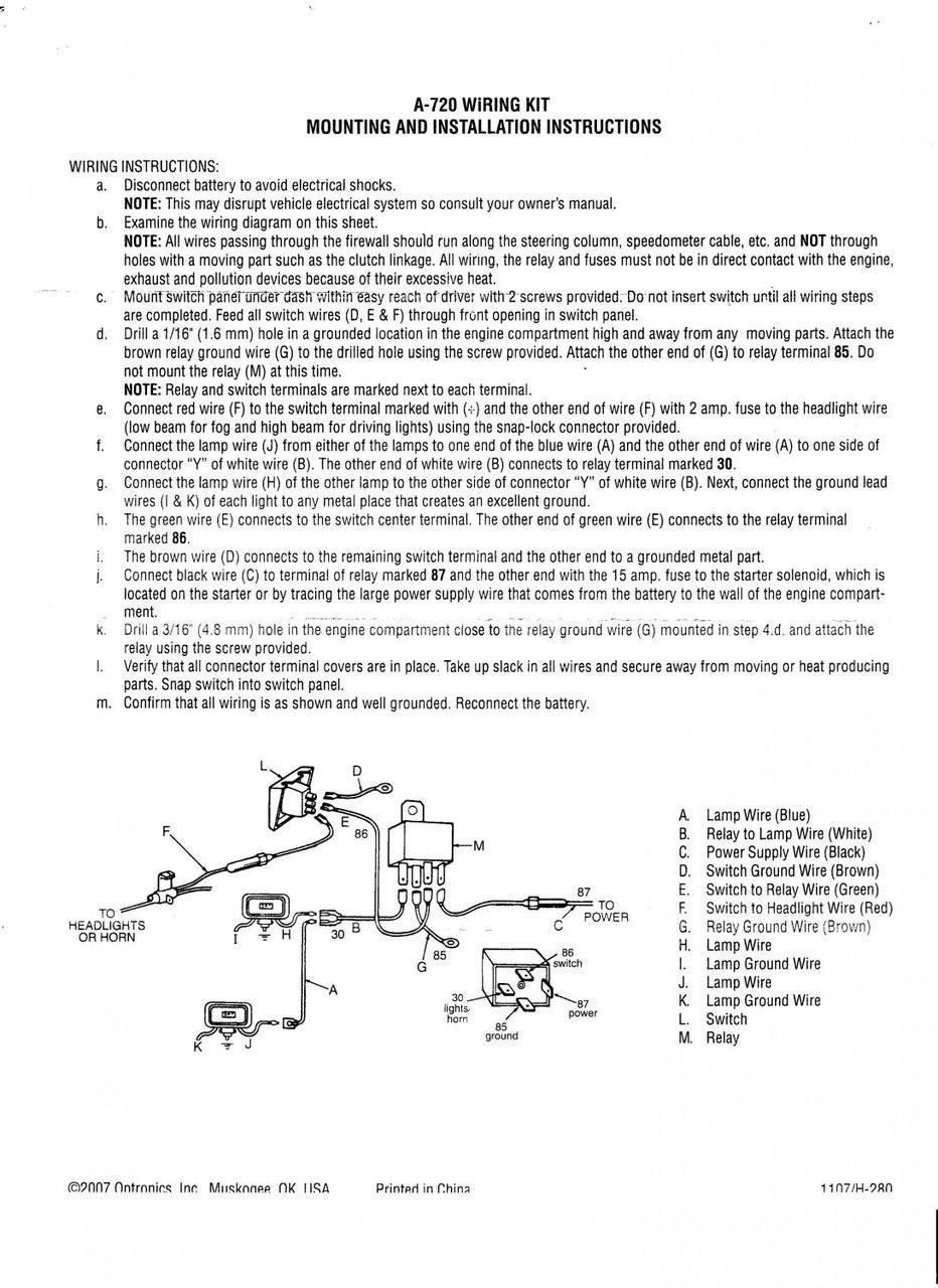 40amp relay wiring kit 100watt driving light auxilliary off road 4x4 40 amp relay wiring kit [ 932 x 1280 Pixel ]