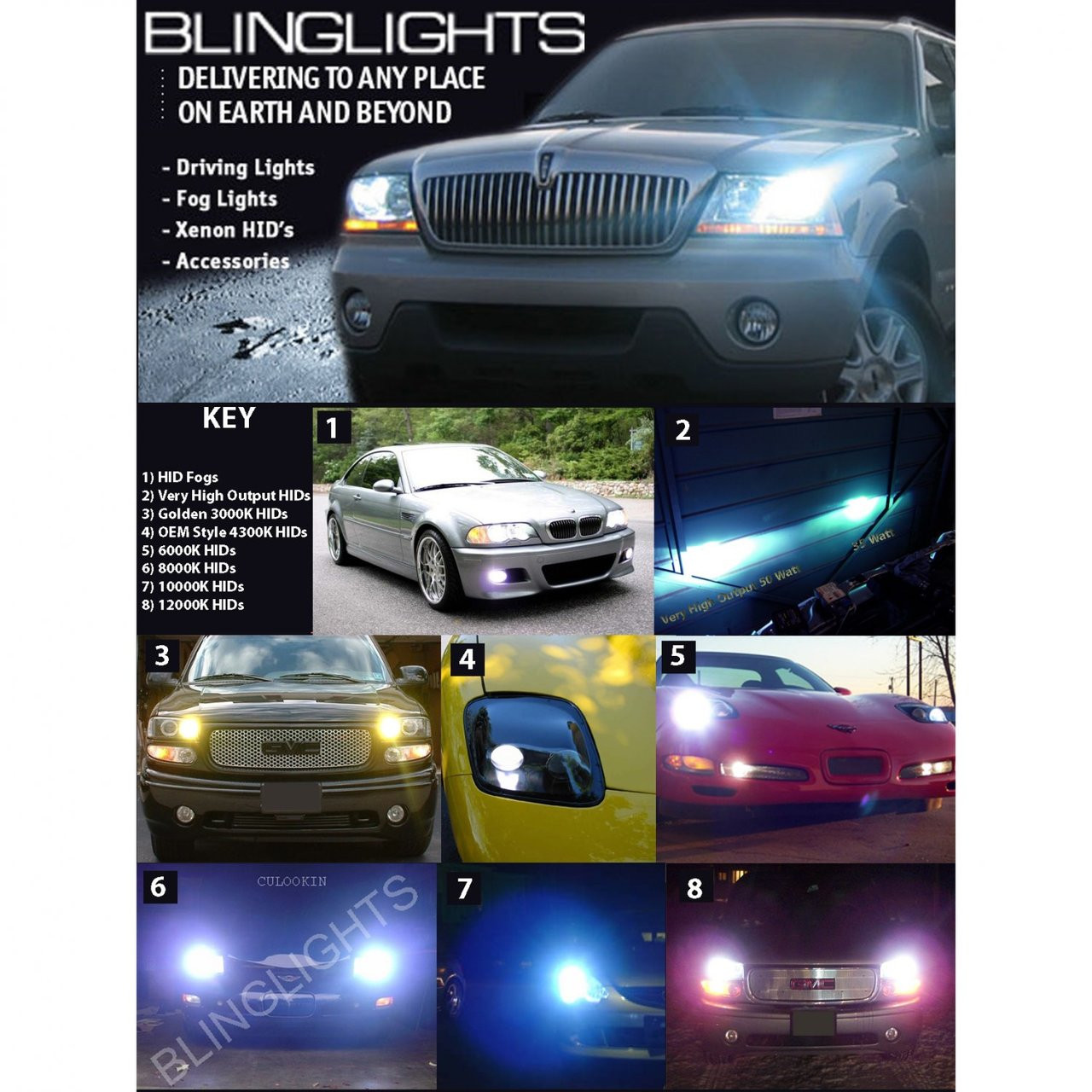 1994 1995 1996 1997 1998 1999 cadillac deville xenon hid conversion kit for headlamps headlights [ 1280 x 1280 Pixel ]
