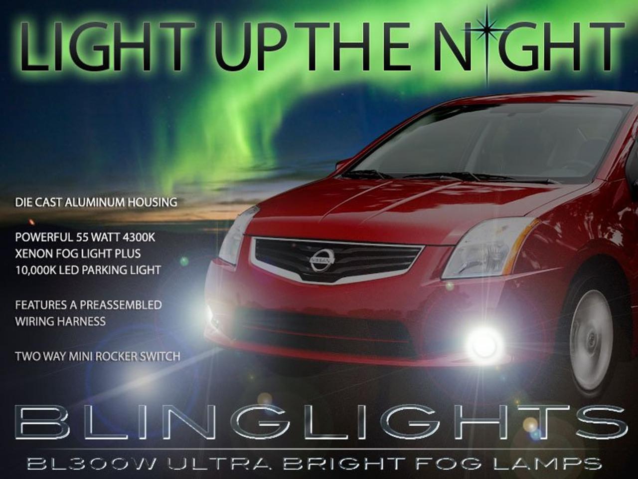small resolution of 2007 2008 2009 2010 2011 2012 nissan sentra xenon led fog lamps driving lights foglamps kit blinglights com