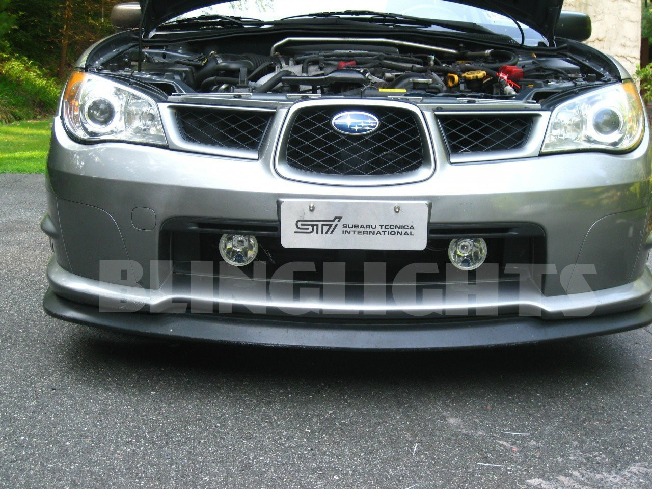 hight resolution of subaru impreza wrx sti grille xenon fog lamps lights kit blinglights com