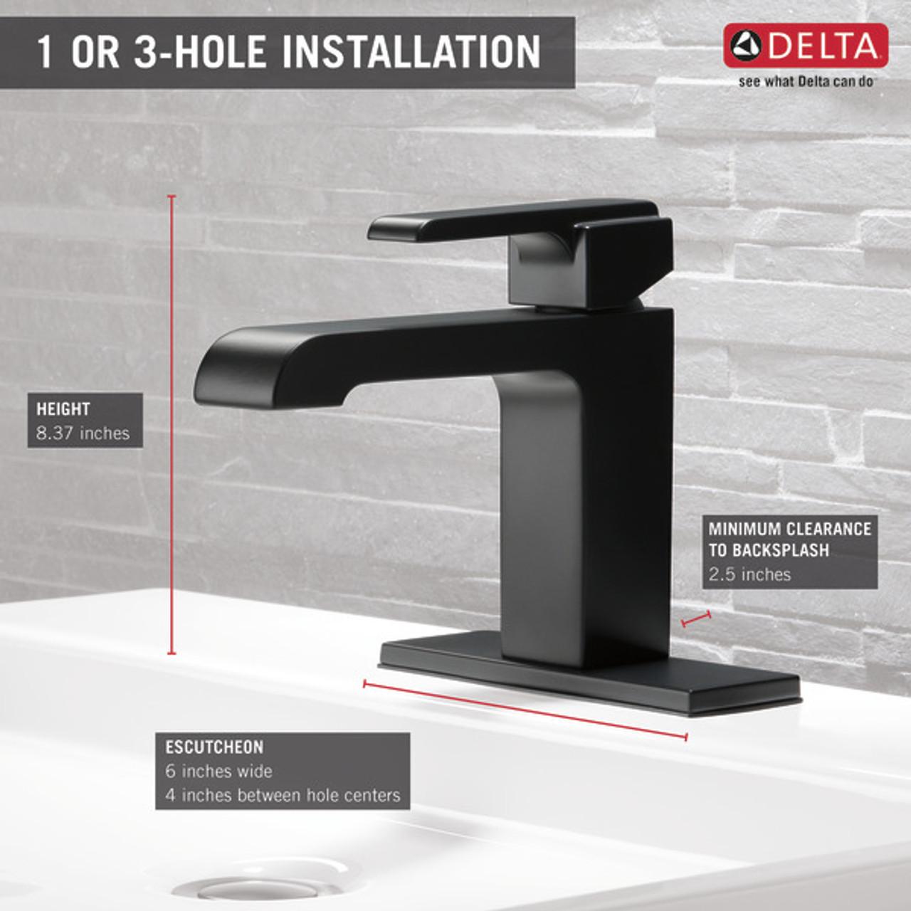 delta ara single handle lavatory faucet venetian bronze