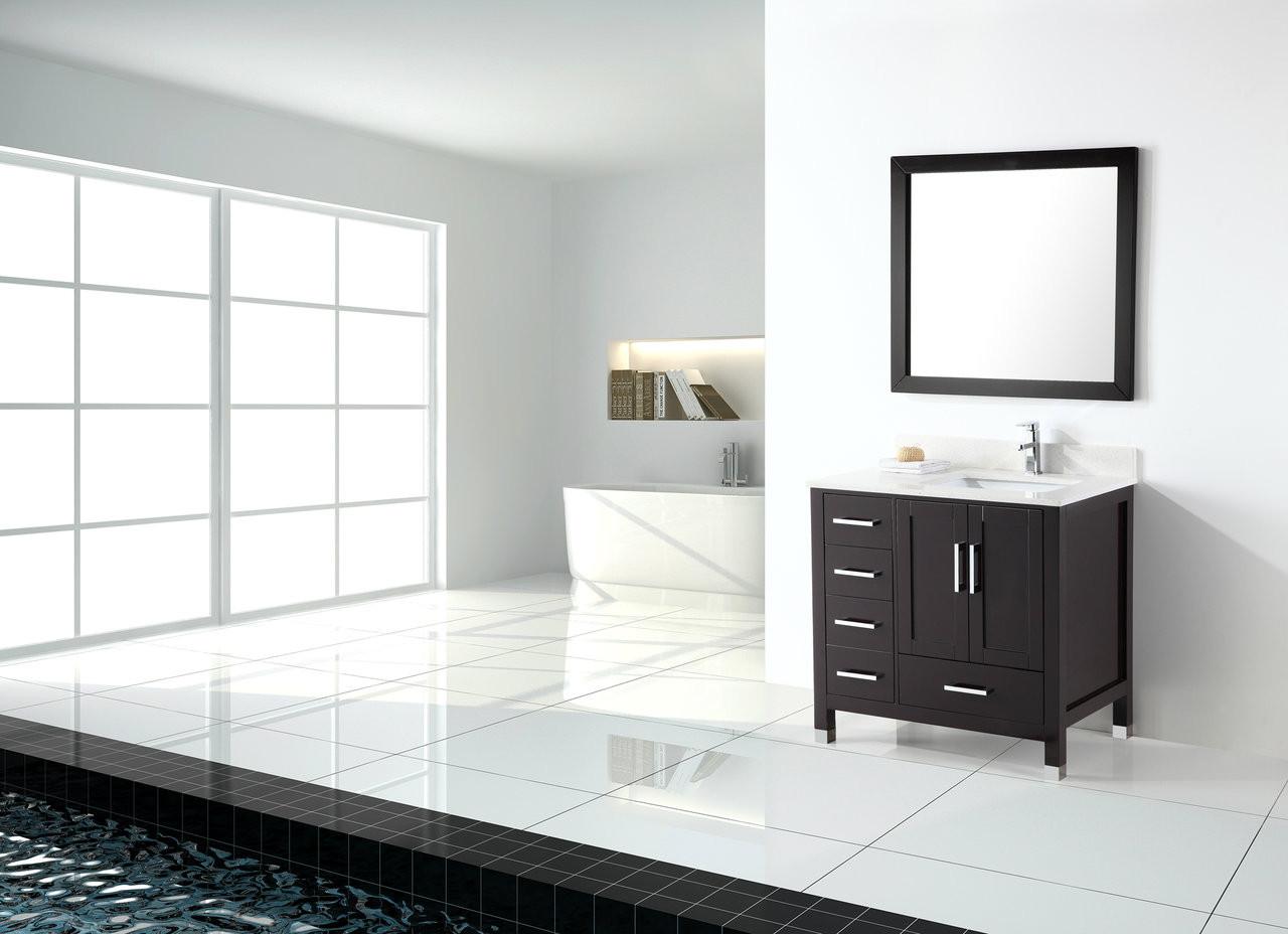 palmera 42 espresso offset right sink bathroom vanity