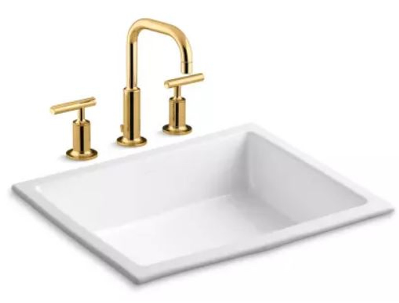 kohler verticyl 17 1 4 undermount bathroom sink with overflow and devonshire single hole bathroom faucet with pop up drain assembly