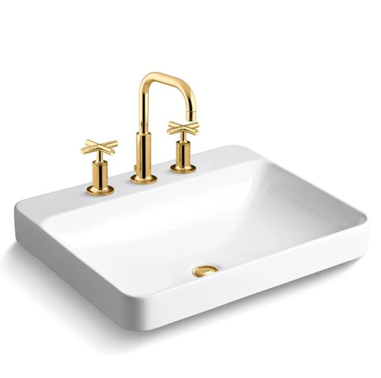 https royalbathplace com kohler vox 22 vessel sink with overflow and purist widespread bathroom faucet with pop up drain assembly