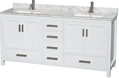 royal palmera collection 72 inch white double sink bathroom vanity