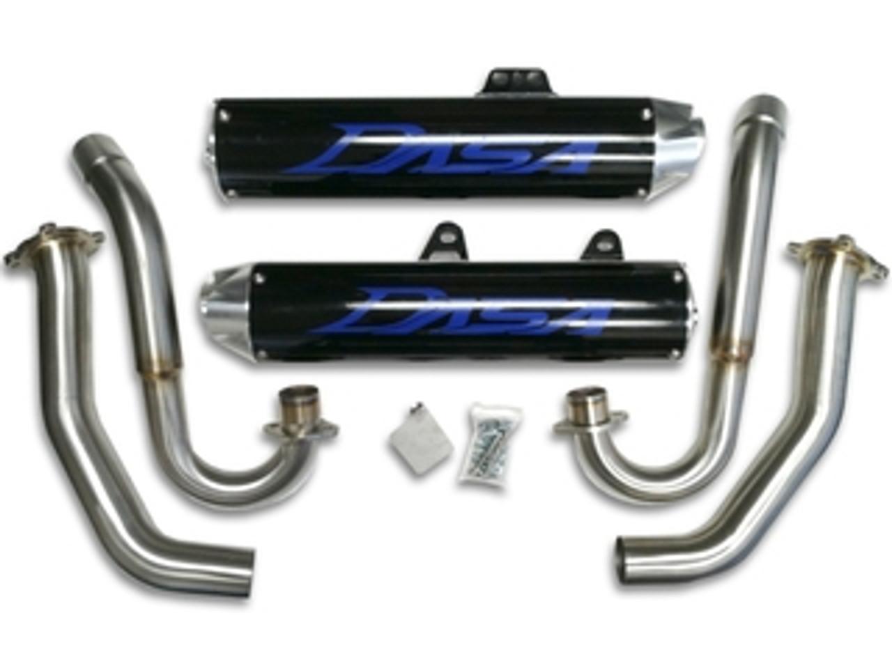06 14 raptor 700 dasa dual exhaust pipe