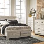 The Bellaby Whitewash 6 Pc Dresser Mirror Queen Platform Bed With 2 Storage Drawers Sold At Discount Home Furniture Serving Burnsville Mn