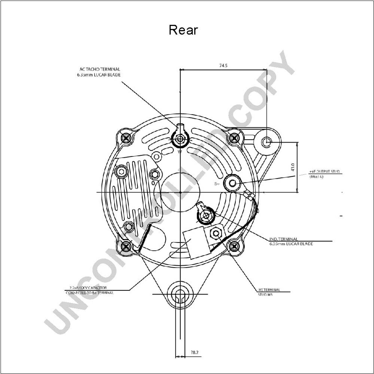 hight resolution of perkins 4 108 alternator high output isolated earth 90a
