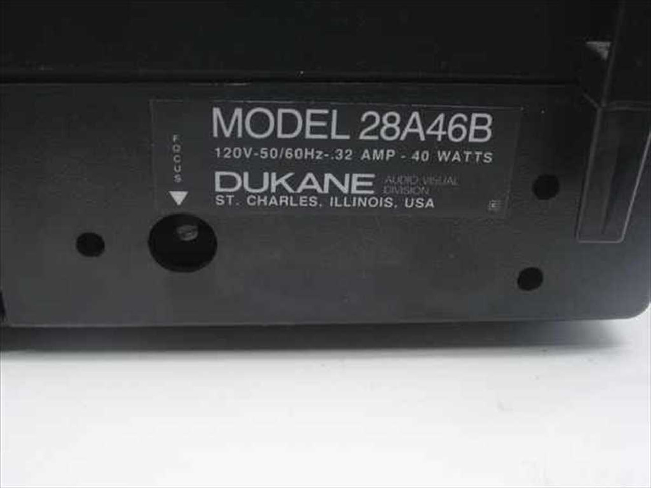 hight resolution of  dukane 28a46b portable film viewer audio tape deck as is for repair