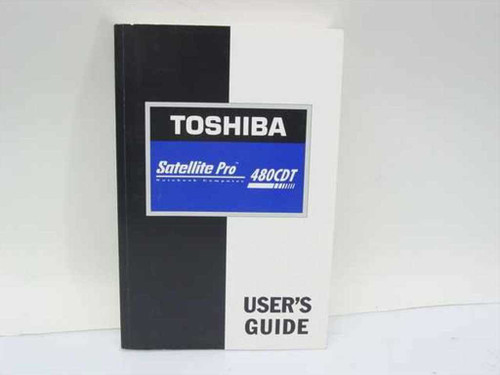 Toshiba Satellite Pro 480CDT Laptop User's Guide Paper
