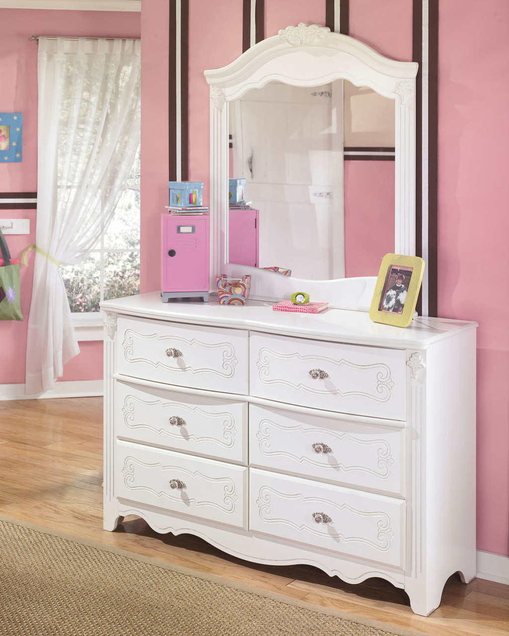 Exquisite White Dresser Mirror Sold At Hilton Furniture Serving Houston Tx Ands Surrounding Areas