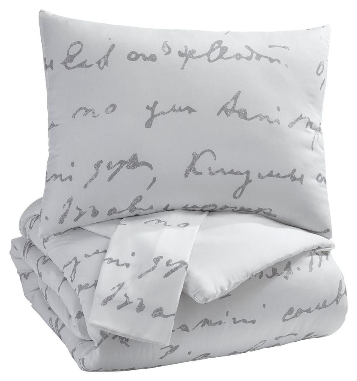 adrianna white gray king comforter set