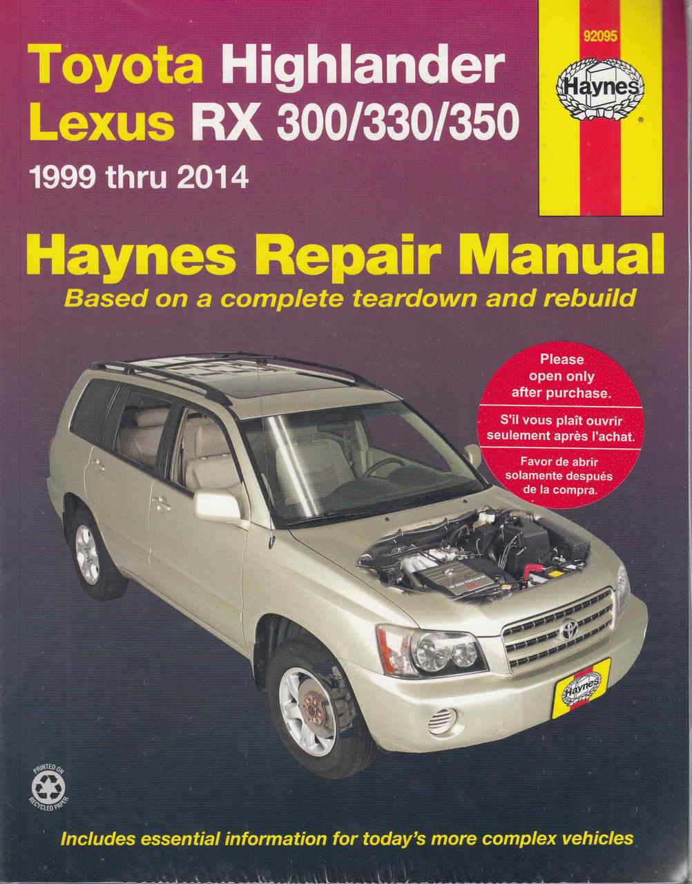 small resolution of toyota kluger highlander lexus rx300 rx330 rx350 1999 2014 workshop manual
