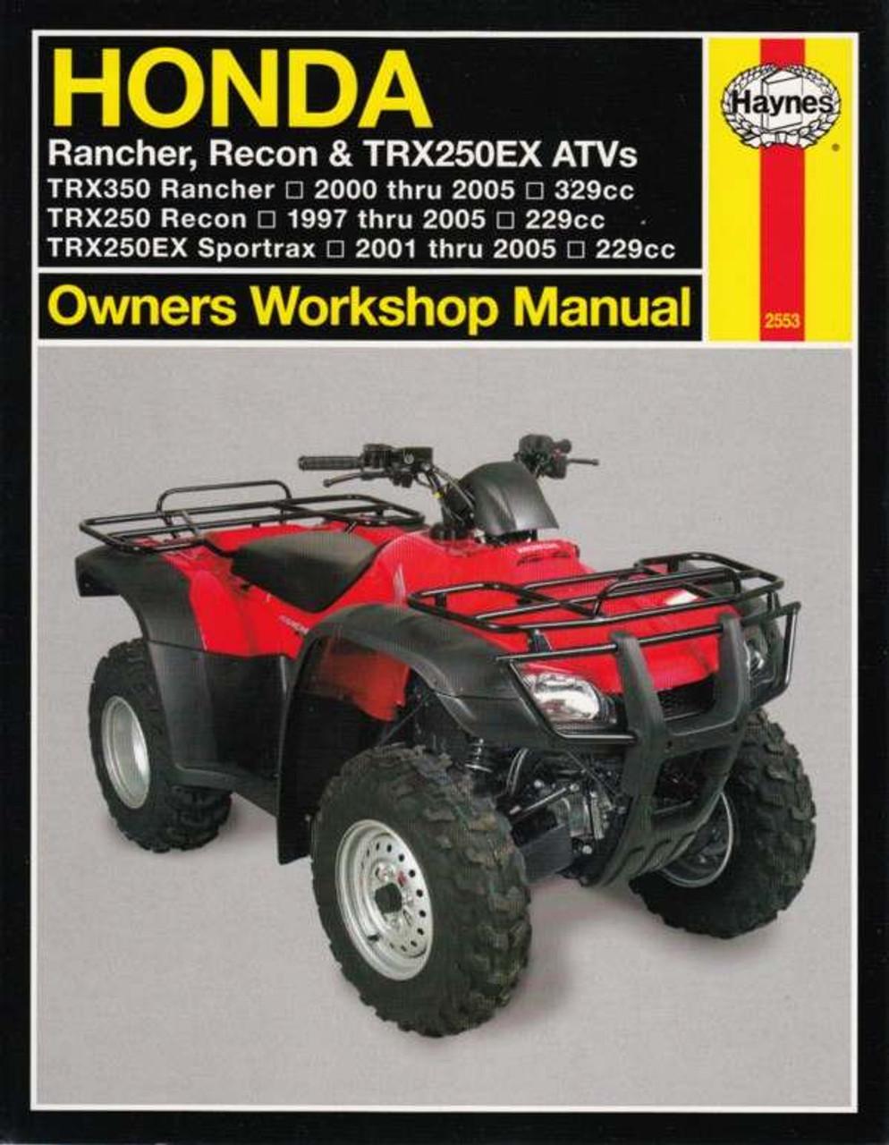 medium resolution of honda rancher recon trx250ex atvs 1997 2005 workshop manual honda trx350 rancher trx250