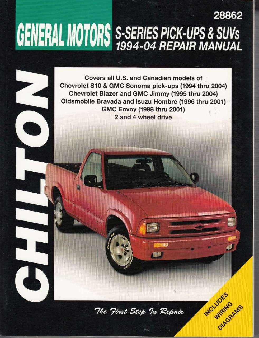medium resolution of gm chevrolet s series pick ups suvs 1994 2004 chilton workshop manual