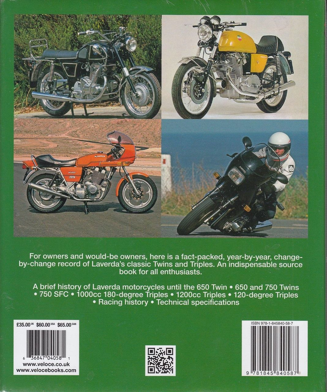 hight resolution of  the laverda 650 750cc twins and 1000 1200 triples bible back cover