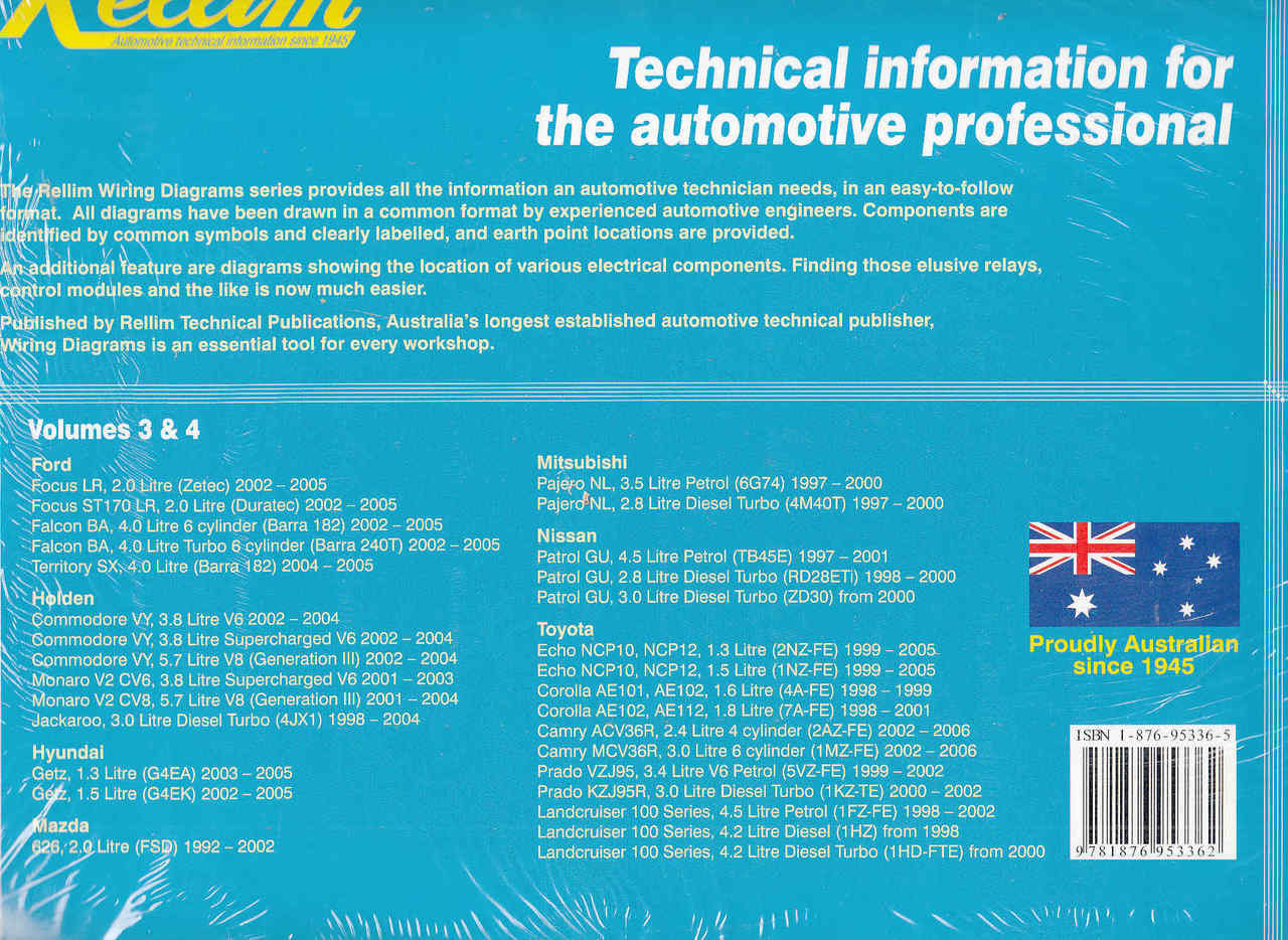 hight resolution of  rellim wiring diagrams volumes 3 4 back cover