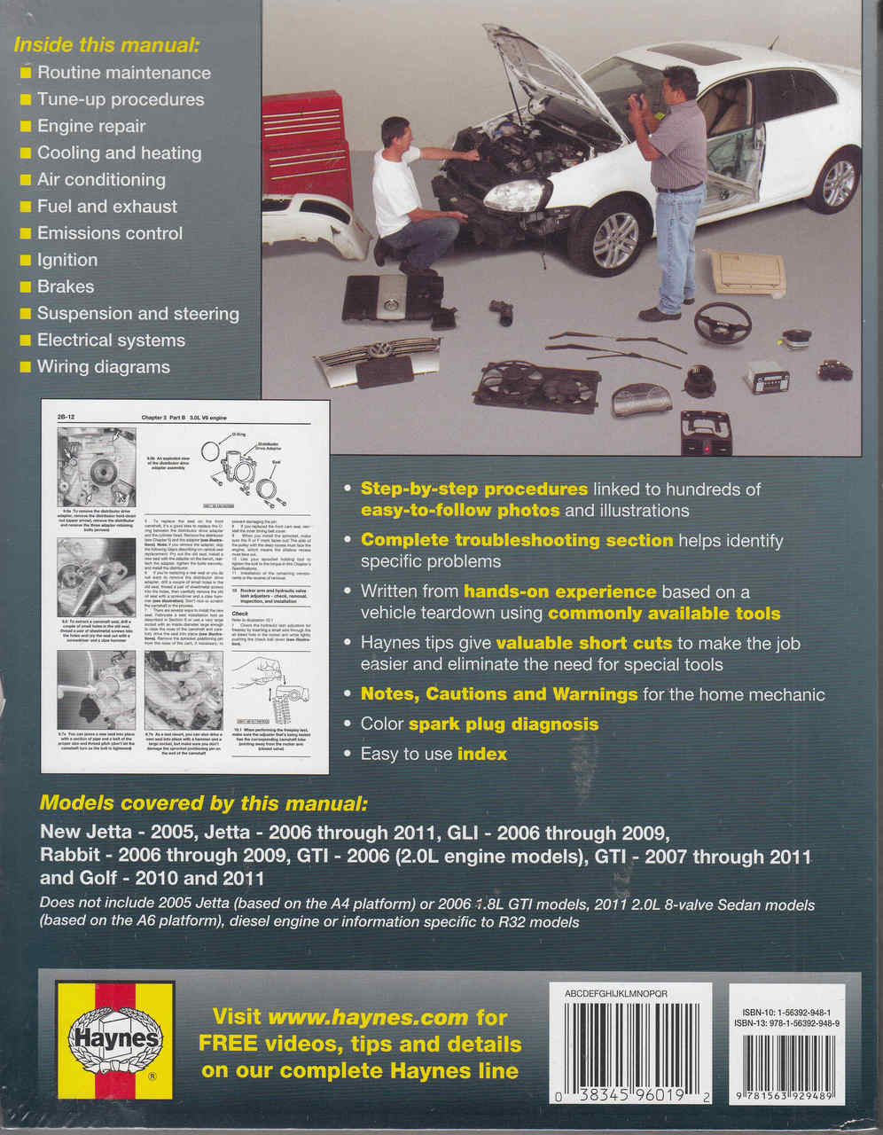 vw jetta rabbit gti golf 2006 2011 repair manual back [ 996 x 1280 Pixel ]