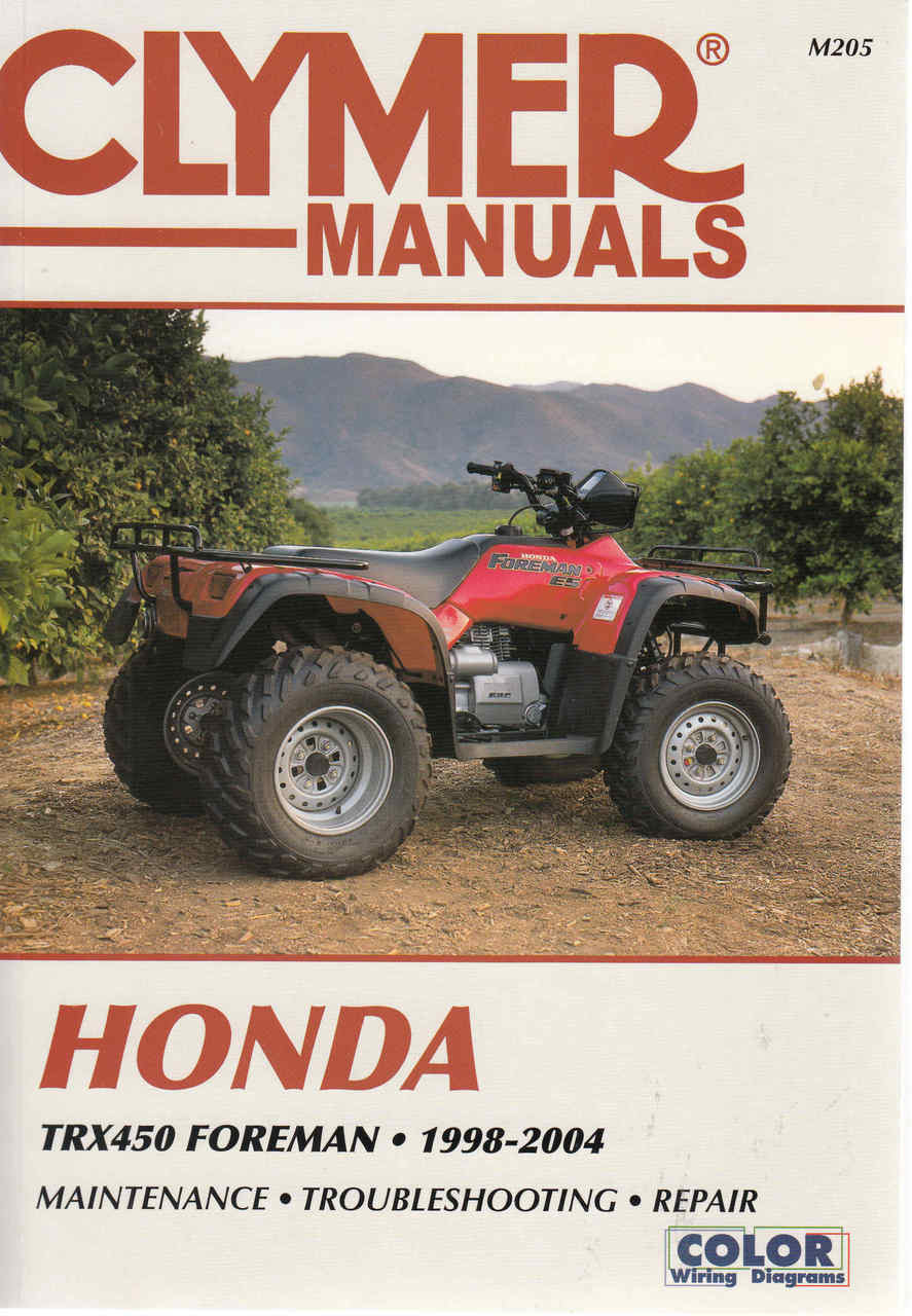hight resolution of honda trx 450 foreman atv 1998 2004 workshop manual trx 450 wiring diagram