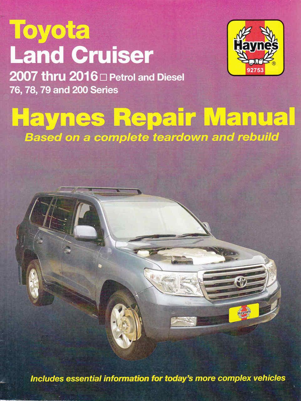 medium resolution of toyota land cruiser 76 78 79 and 200 series petrol diesel 2007 2016 workshop manual