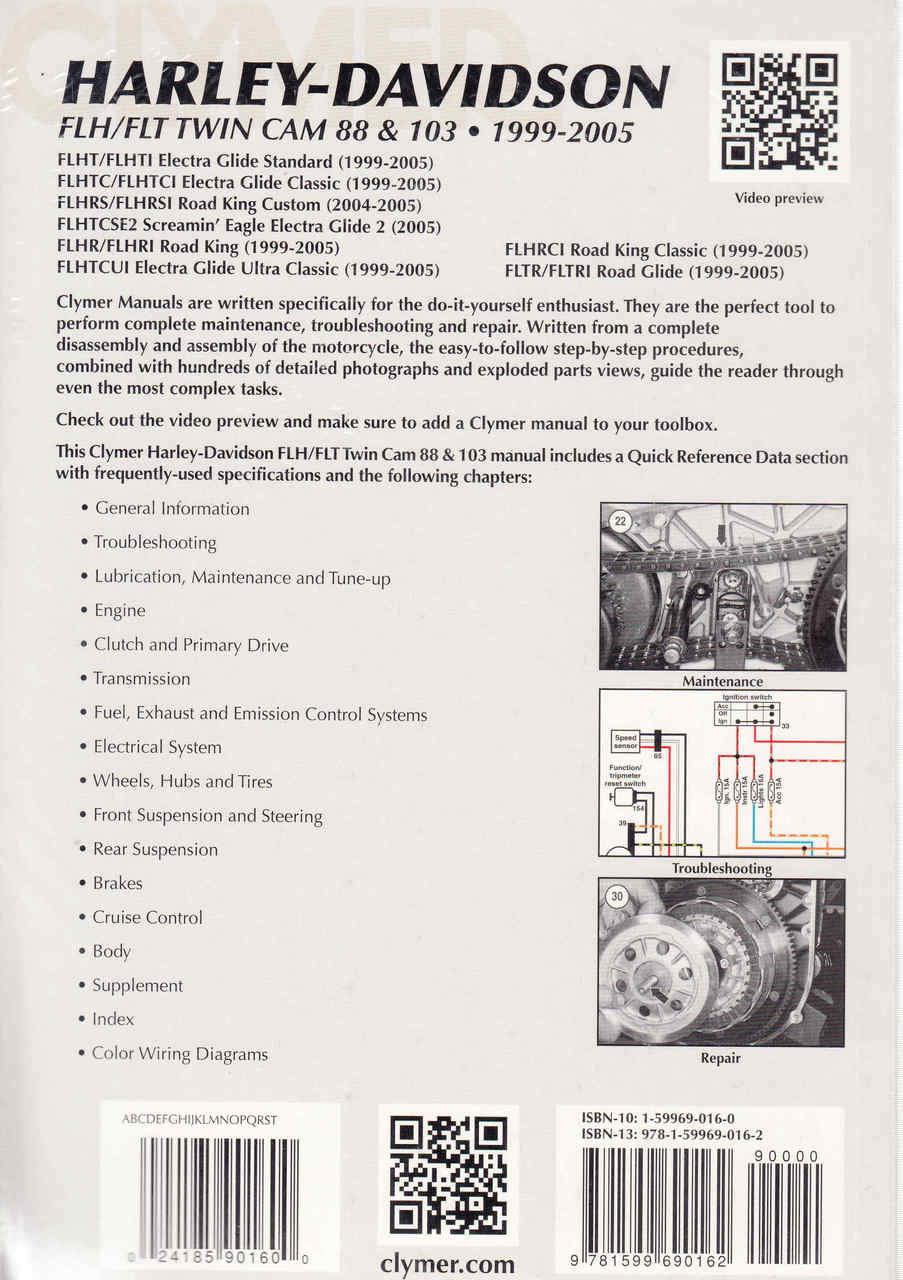 medium resolution of  harley davidson flh flt twin cam 88 103 1999 2005 workshop manual