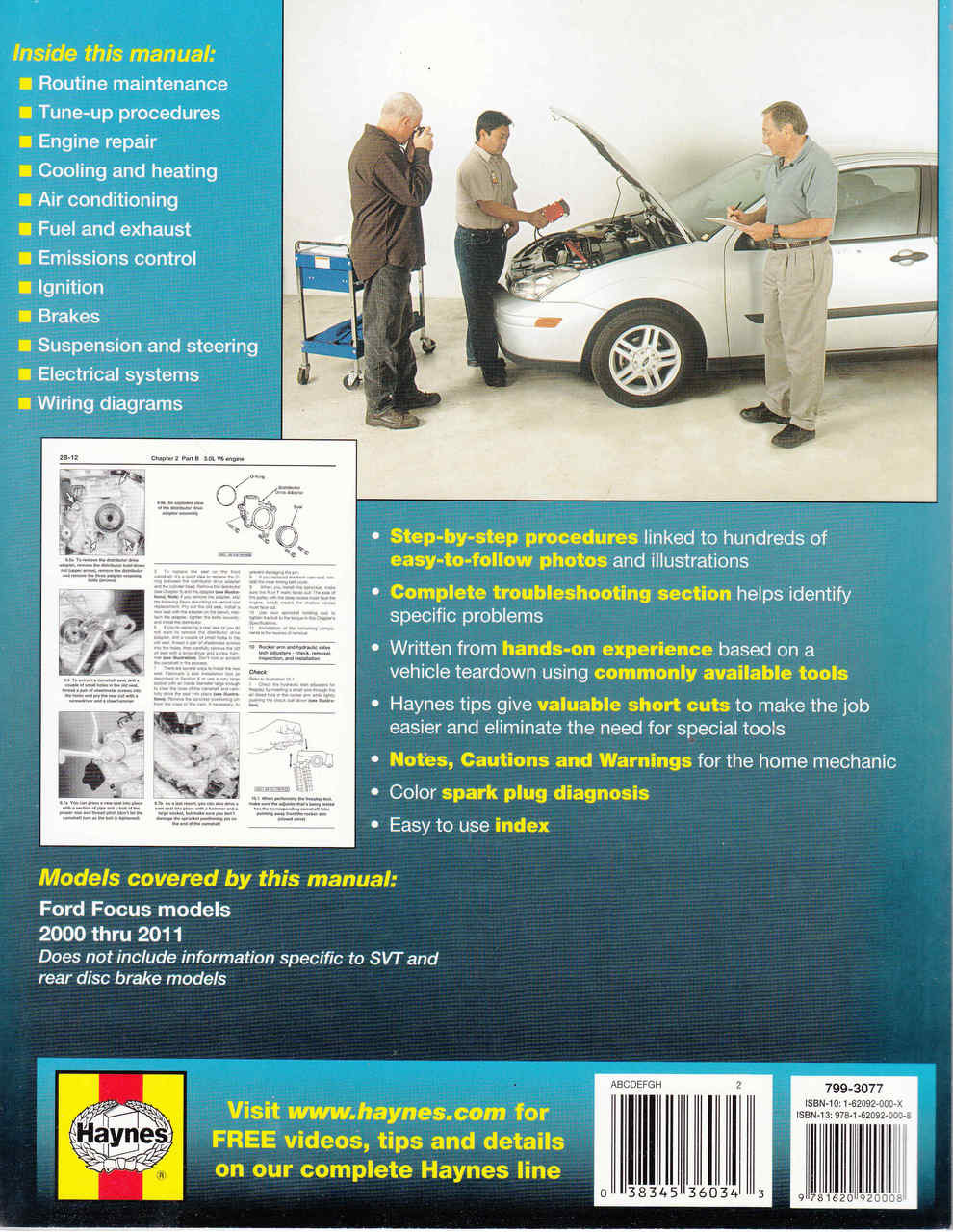 medium resolution of  ford focus 2000 2011 petrol workshop manual 9781620920008