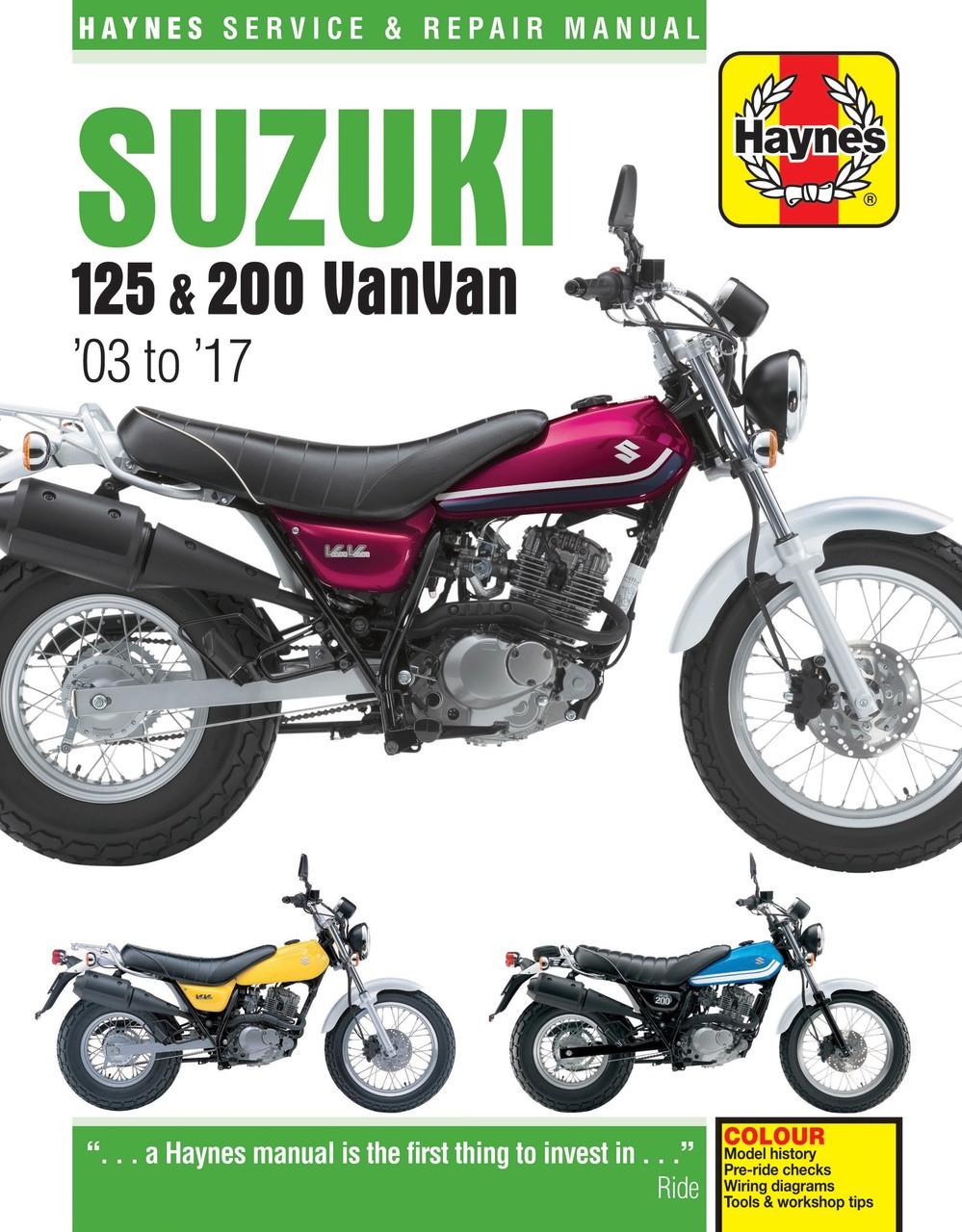 hight resolution of suzuki rv125 rv200 vanvan 2003 2017 workshop manual suzuki rv 125 wiring diagram suzuki rv 125 wiring diagram