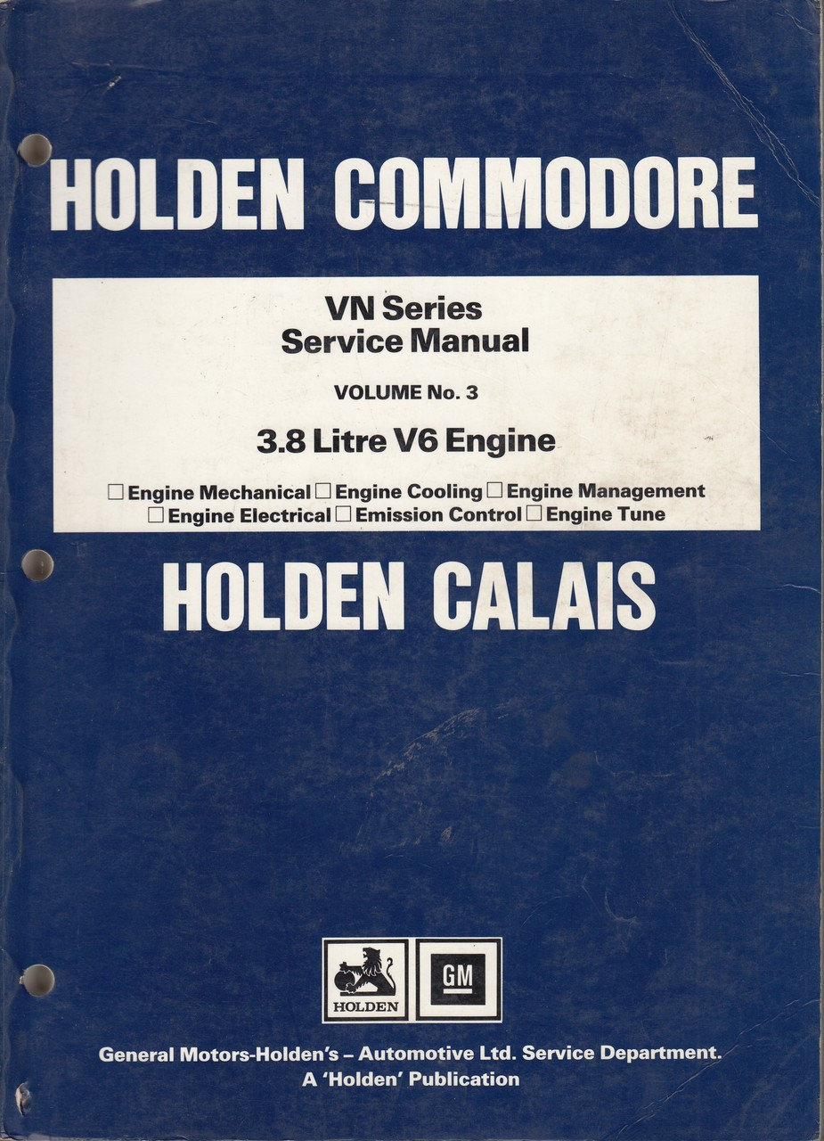 small resolution of holden commodore calais vn series 3 8 litre v6 engine repair service holden 3 8 v6 engine diagram