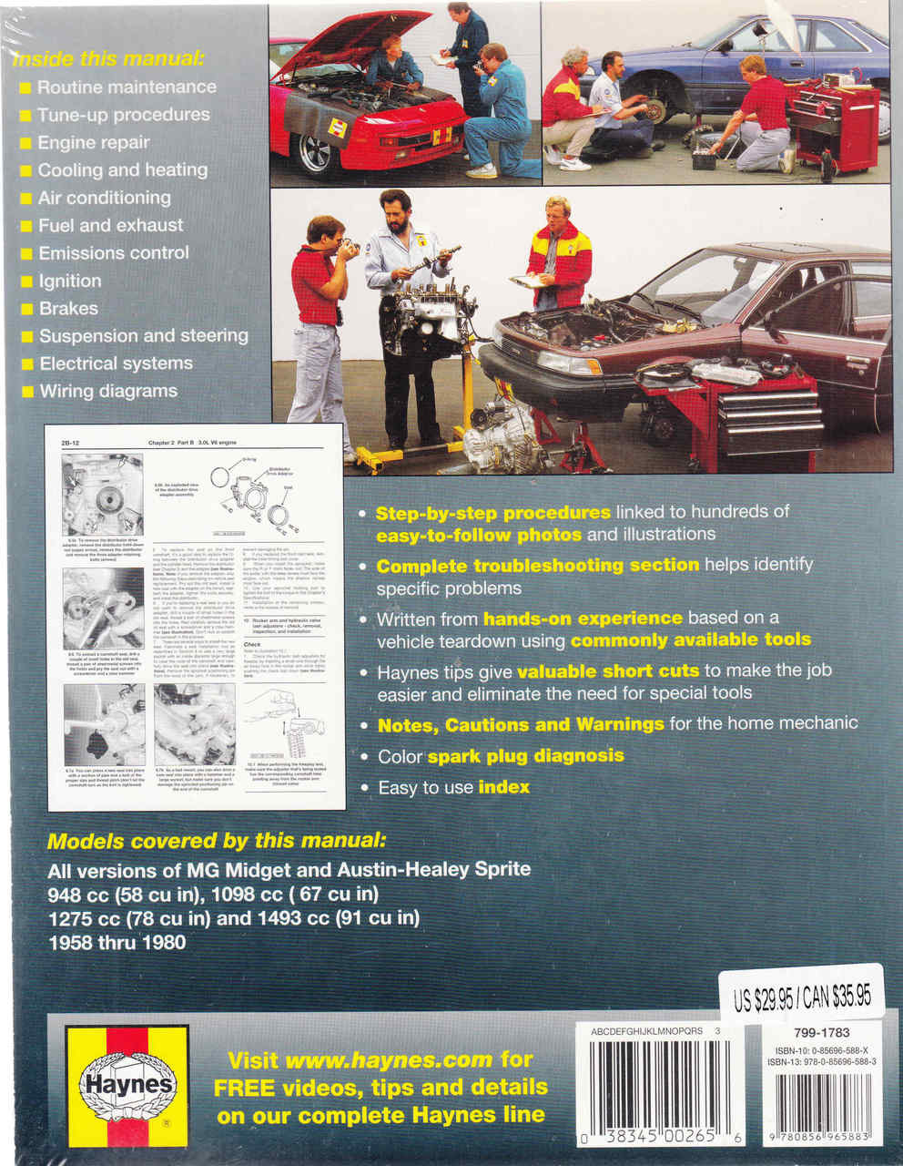 mg midget amp austin healey sprite 1958 1980 workshop manual  [ 992 x 1280 Pixel ]