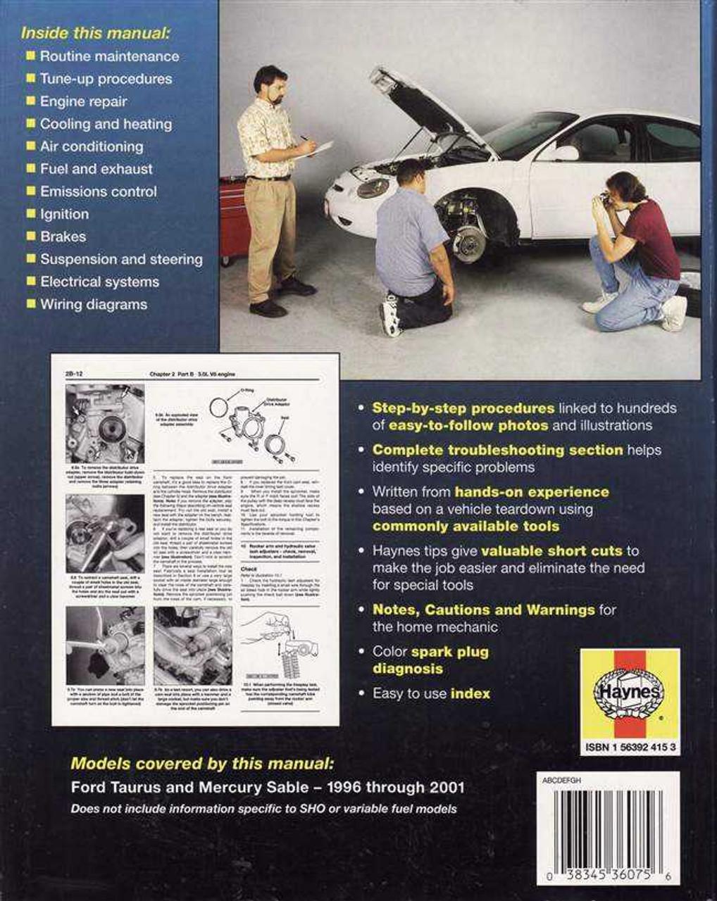 medium resolution of ford taurus and mercury sable 1996 2001 workshop manual 96 mercury sable exhaust diagram