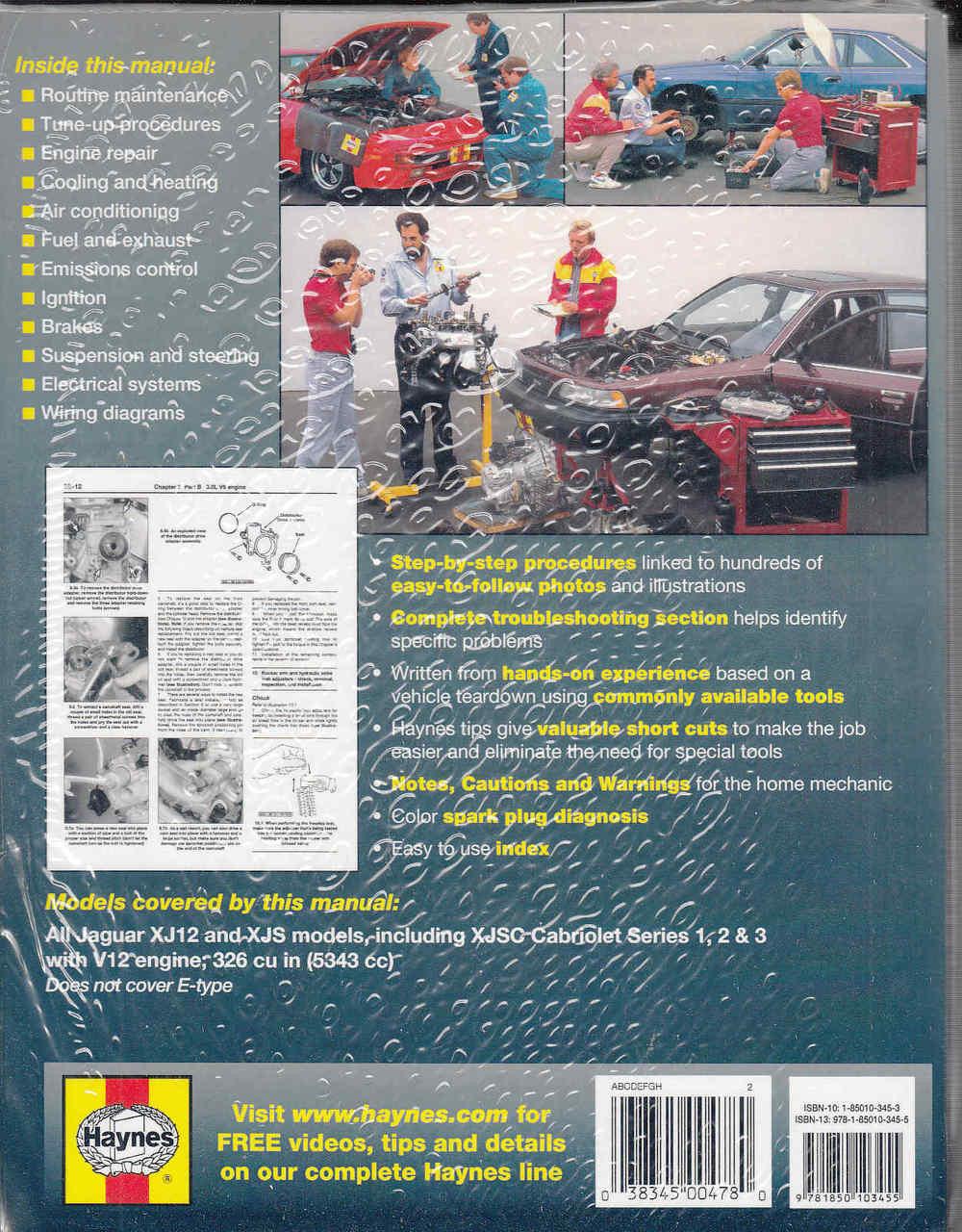 medium resolution of jaguar xj12 xjs sovereign daimler double six 1972 1985 workshop manual