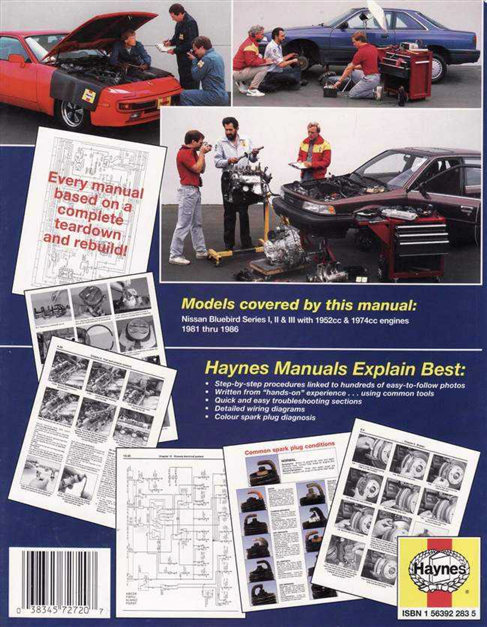 medium resolution of  nissan bluebird series 1 2 amp 3 1981 1986 workshop manual
