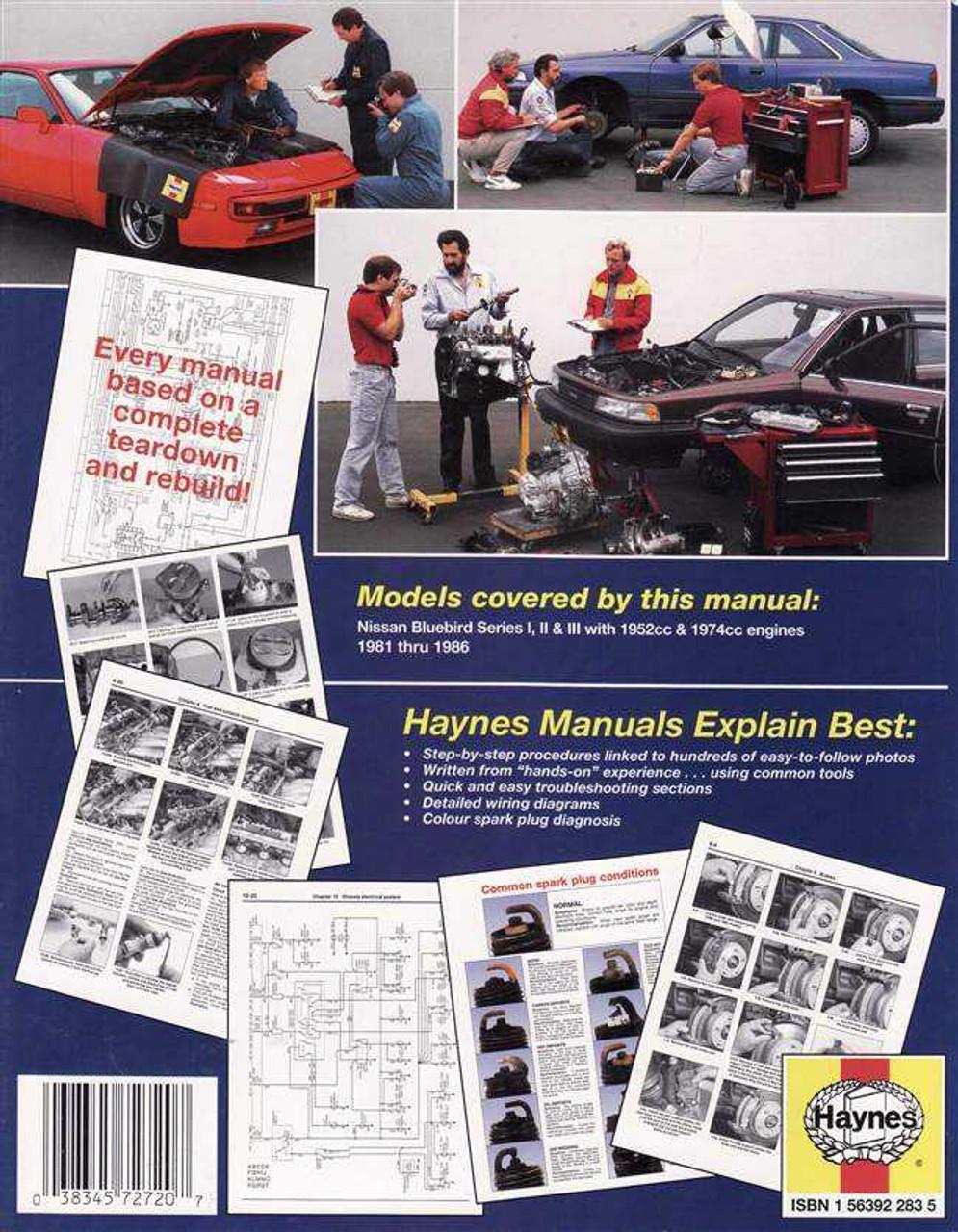 hight resolution of  nissan bluebird series 1 2 amp 3 1981 1986 workshop manual