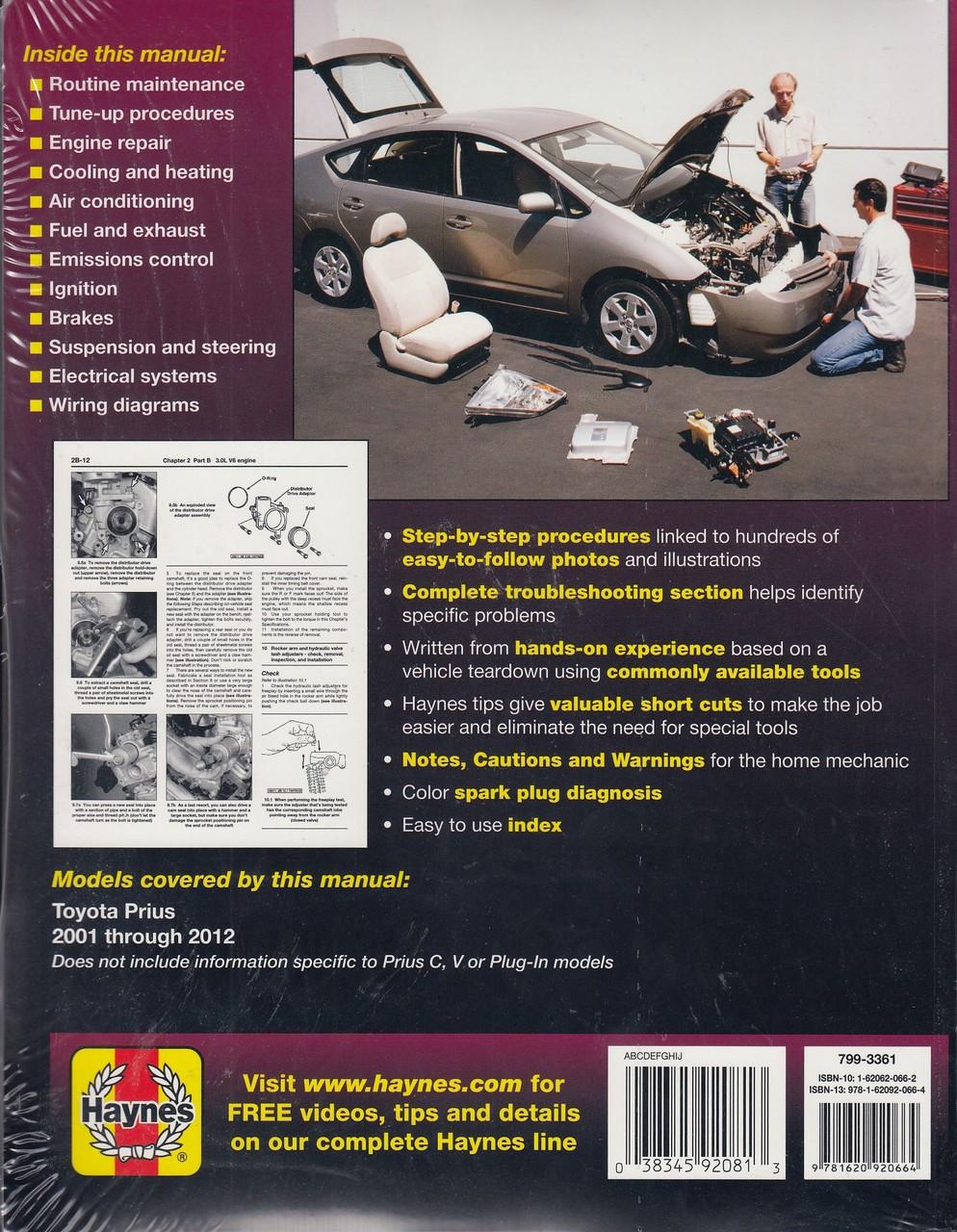 small resolution of toyota prius 2001 2012 workshop manual 038345920813 2012 toyota prius v wiring diagram