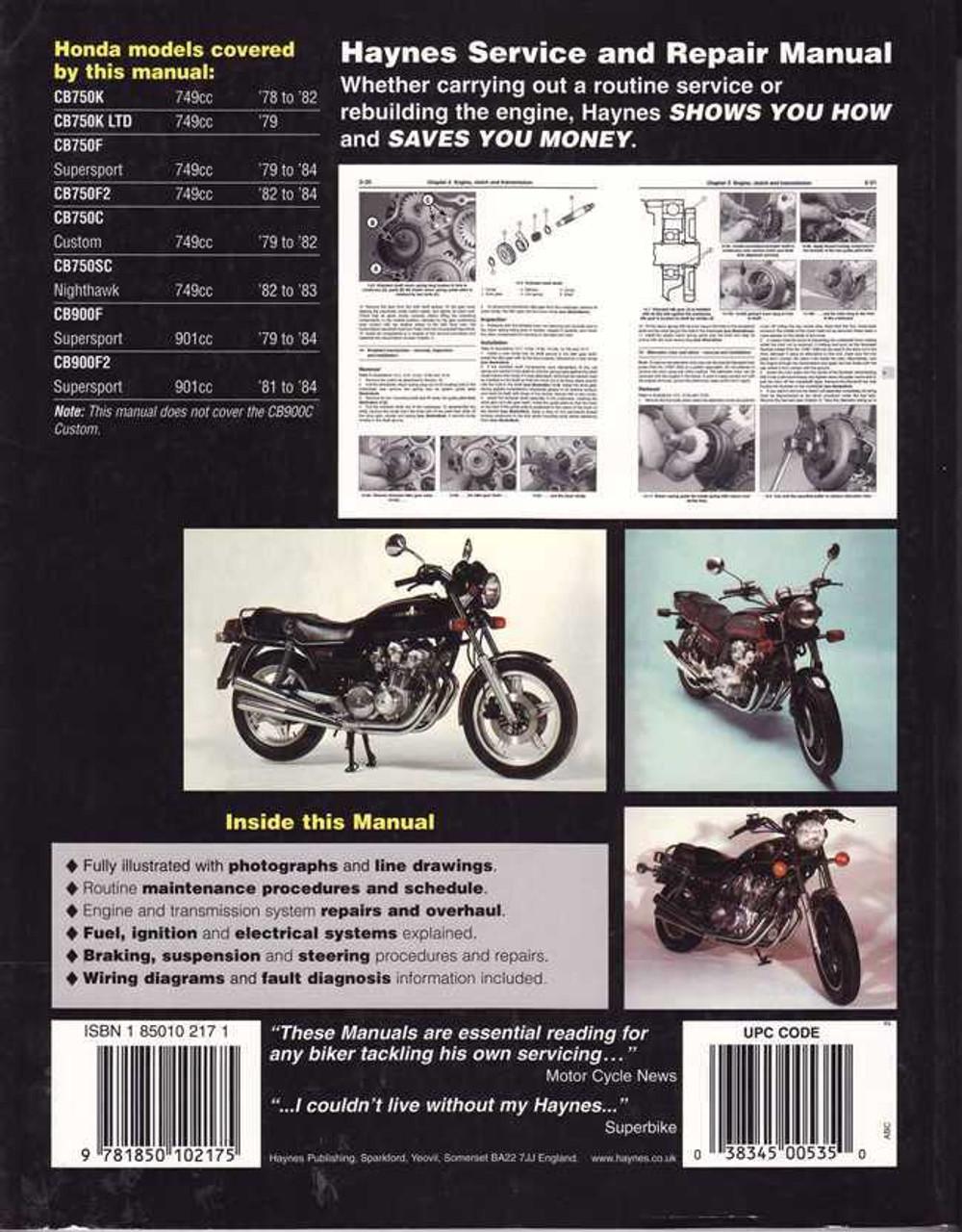 medium resolution of honda cb750 u0026amp cb900 dohc fours 1978 1984 workshop manualhonda cb750 u0026amp