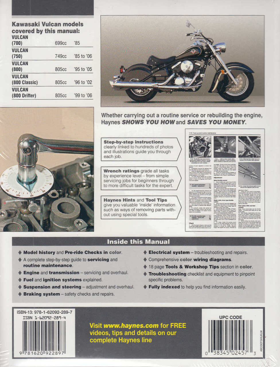hight resolution of  kawasaki vulcan 700 750 and 800 1985 2006 workshop manual 9781620922897