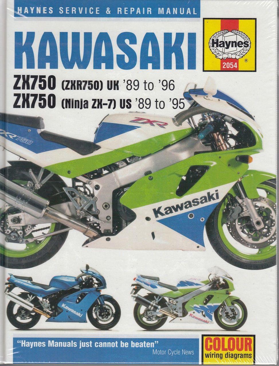 hight resolution of kawasaki zx750 ninja zx 7 amp zxr750 fours 1989 1996 workshop manual