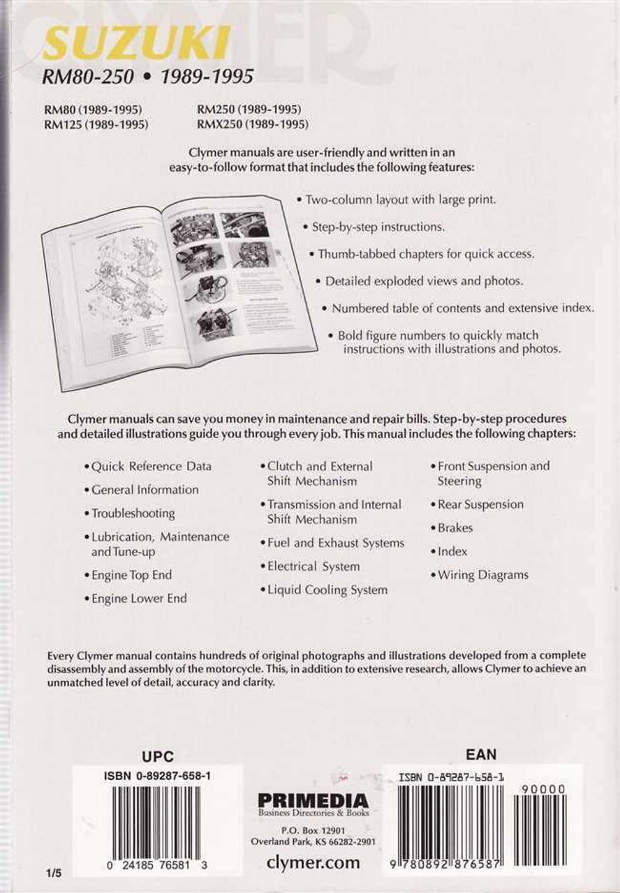 1983 Suzuki Rm250 Service Manual