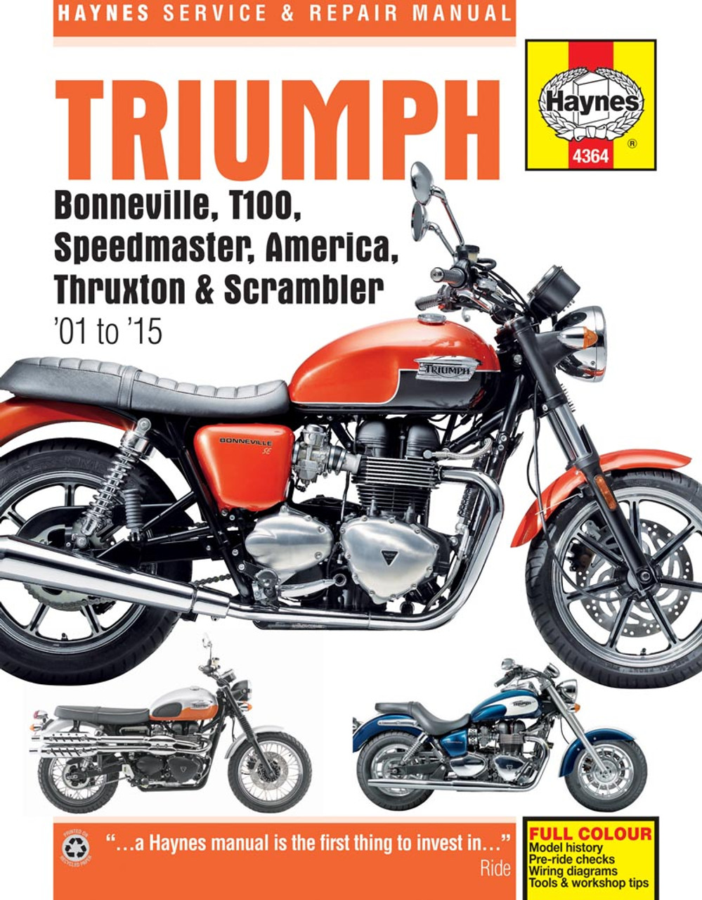 medium resolution of triumph bonneville t100 speedmaster america thruxton scrabmler workshop manual