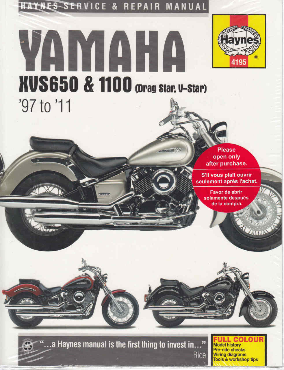 medium resolution of yamaha xvs650 amp xvs1100 drag star v star 1997 2005 workshop manual